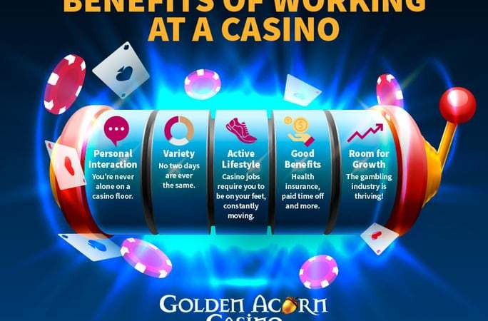 infographic benefits of working at a casino