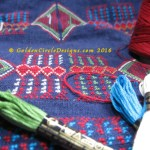 Closeup of cross stitch Palestinian Coat