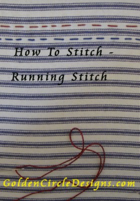 Basic Embroidery Stitches – Running Stitch