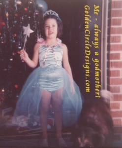 Me in my favorite blue fairy costume - just before I started ballet classes!