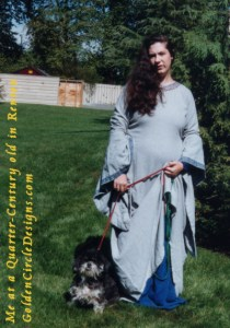 Medieval Me in Renton, WA. Yes, I did do all the embroidery on that gown... which is now back in my possession as of this year!