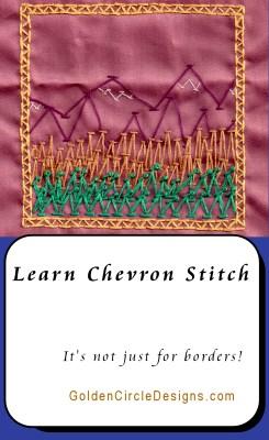 Chevron Stitch – Basic Embroidery Stitches
