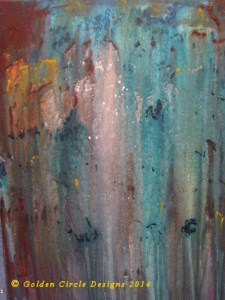GuardiansS3 Abstract painting 14X17 inches. $75.00 Available