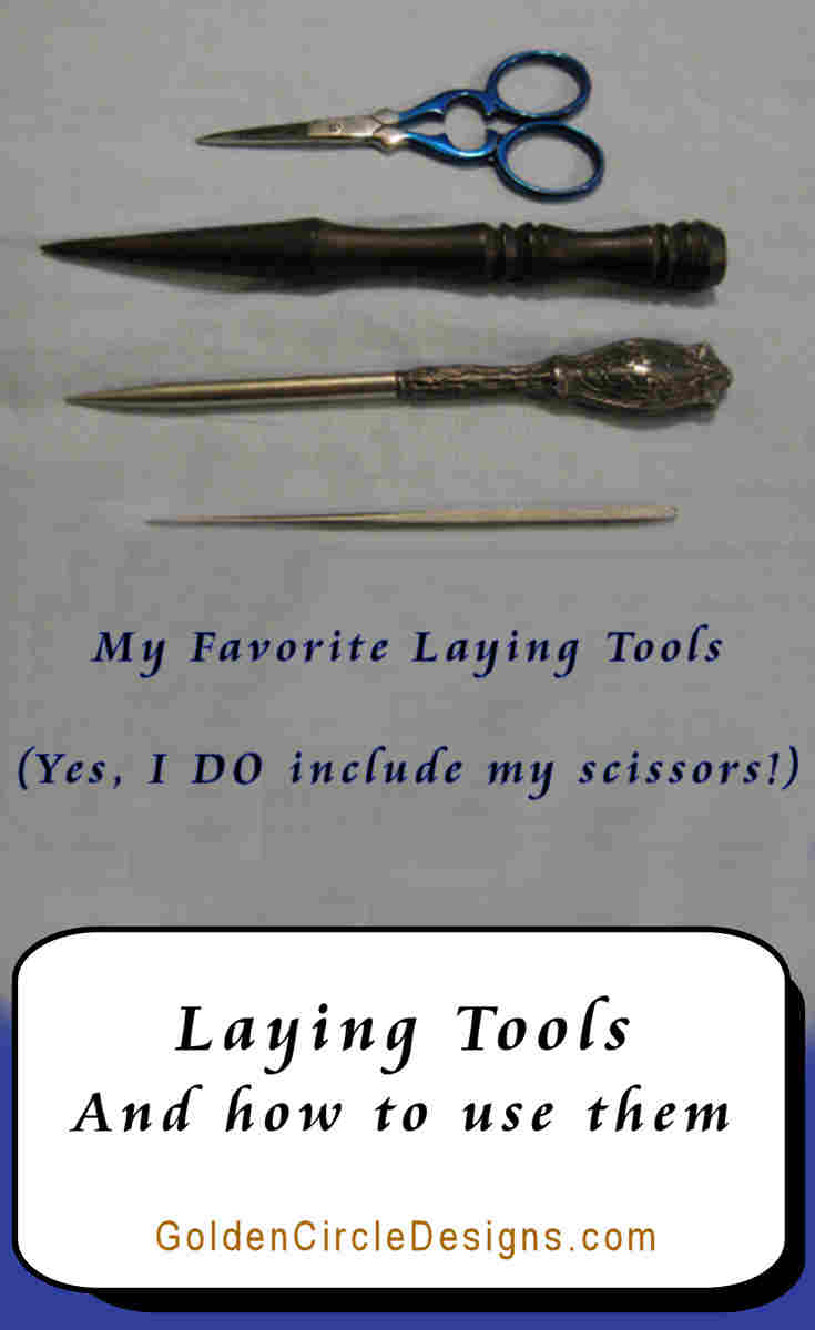 Laying tools give an amazing advantage when you are stitching with flat threads or multiple strands of threads, all of which can get twisted and make the front of your stitching look messy. Not only that, but they can be another beautiful needlework tool to collect! But there are so many choices! What's out there?