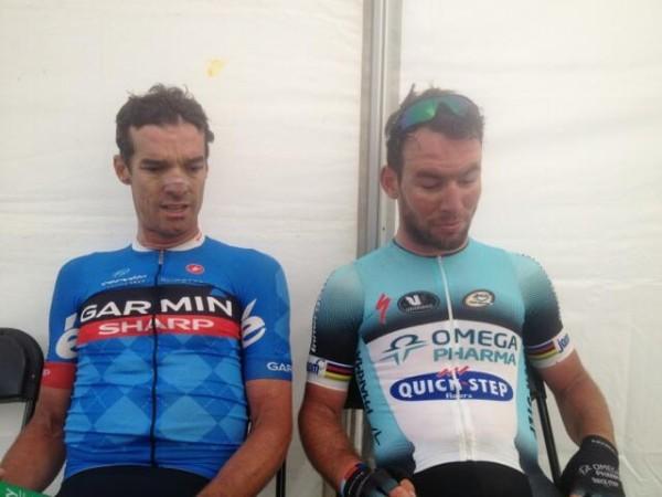 Lieferten sich ein hartes Rennen: David Millar & Mark Cavendish