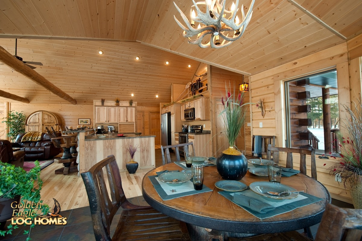 Decent Timber Log Home Cabin Photos Rustic Looking Mobile Homes Rustic Looking Modular Homes Area Looking At Kitchen Gen Eagle Log home decor Rustic Looking Homes
