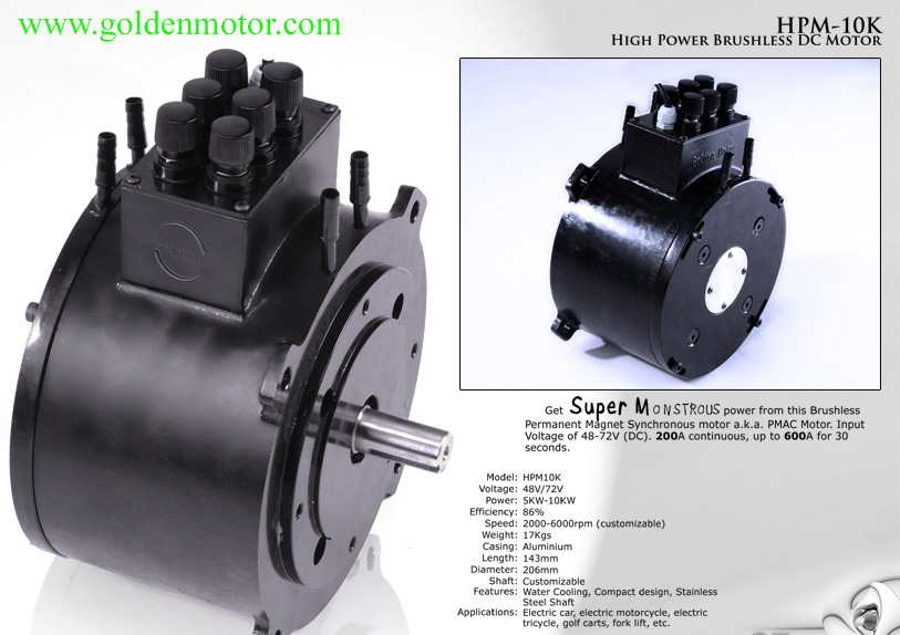 10kw Bldc Motor For Electric Car