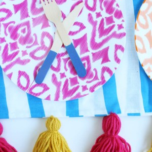 DIY Picnic Blanket or Throw with Tassels by Gold Standard Workhsop