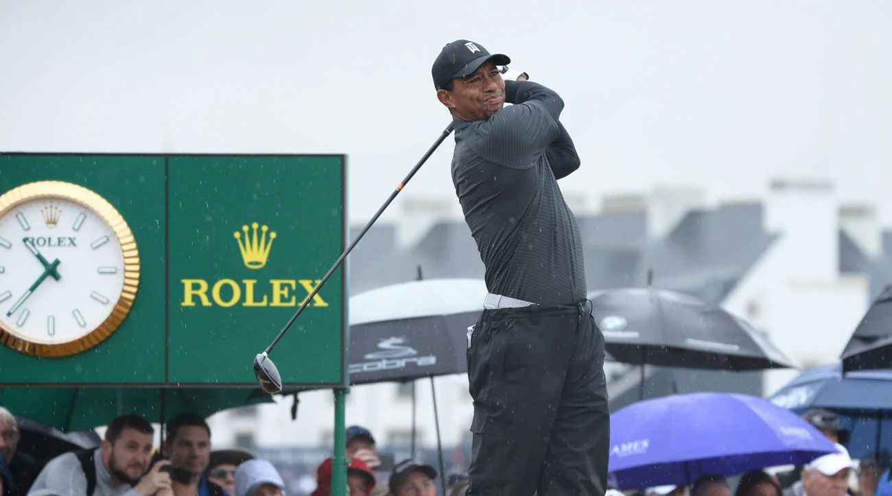 british open tiger woods tee time