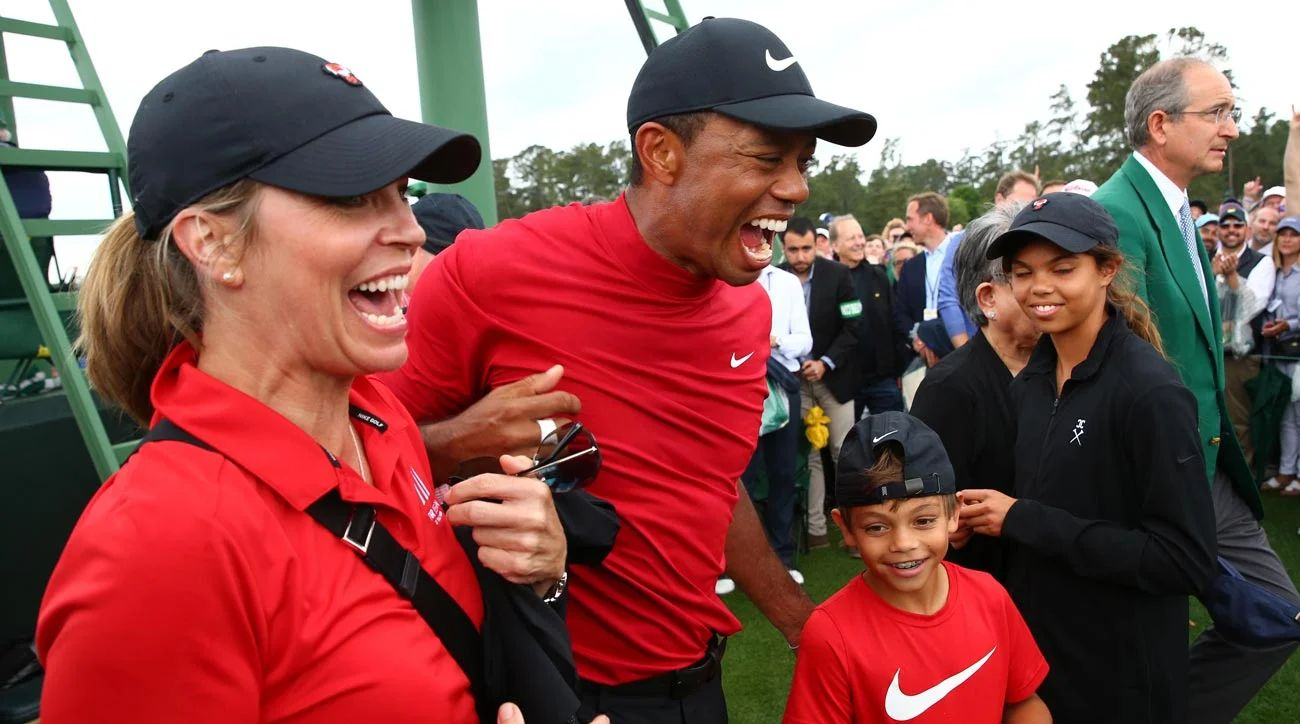 pictures of tiger woods children on
