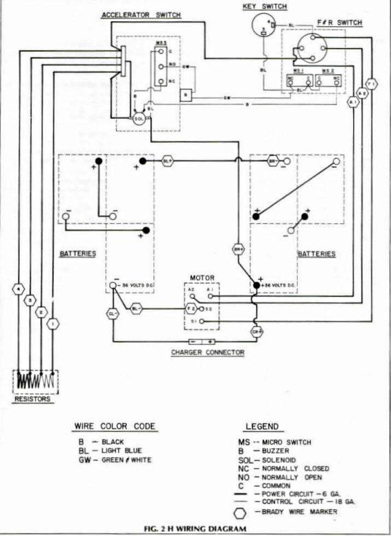 ezgo txt battery wiring diagram