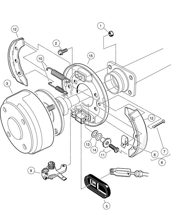 club car brake parts diagram