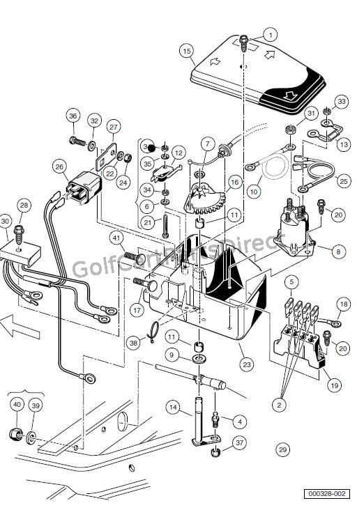 club car golf cart wiring
