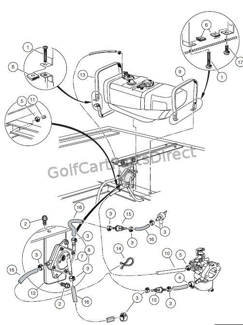 golf cart fuel pump diagram