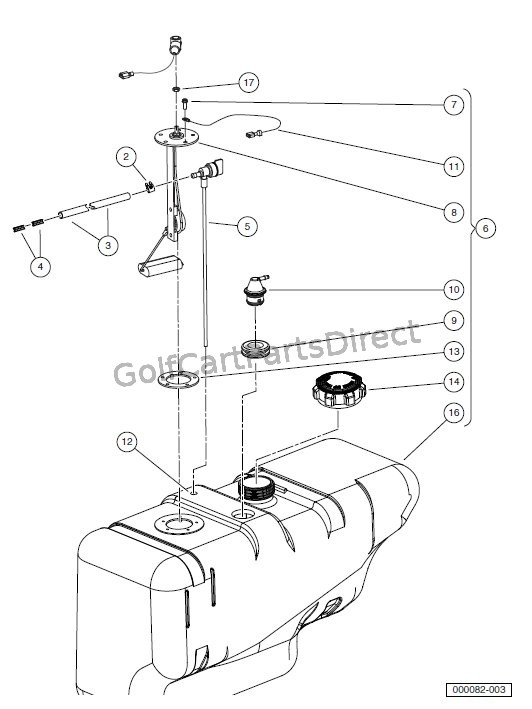club car fuel filter diagram