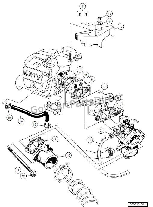 club car golf cart engine parts