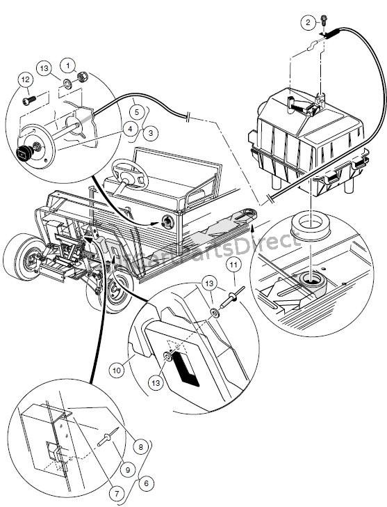 2001 club car gas ledningsdiagram