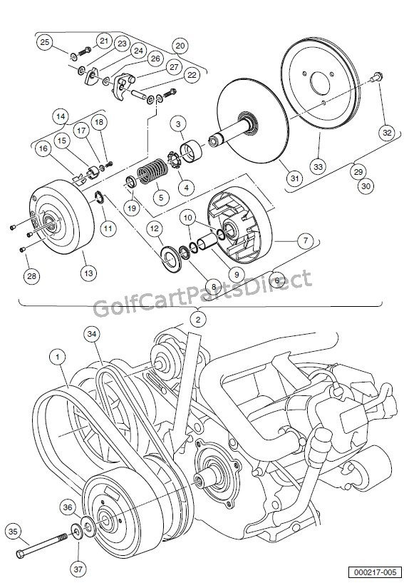 Gas Golf Cart Engine Diagram Golf Cart Golf Cart Customs