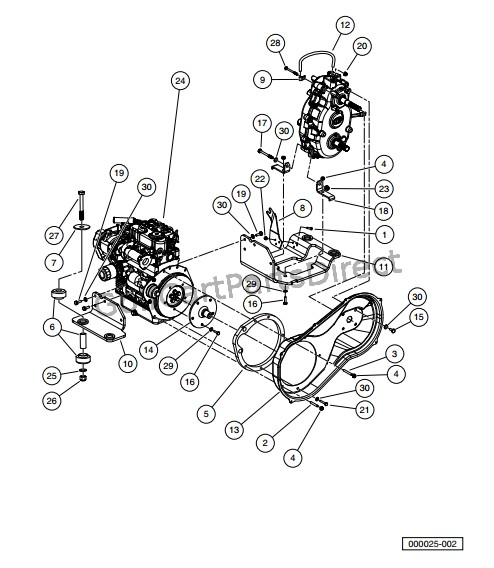 kubota diesel engine diagram