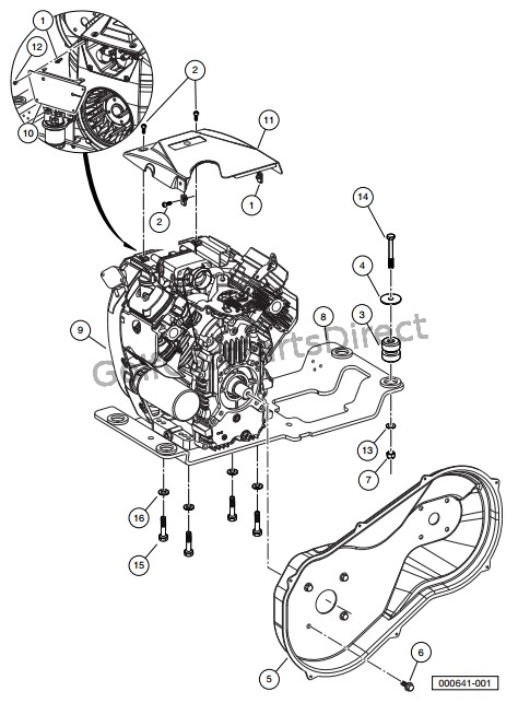 KAWASAKI FH680D GASOLINE ENGINE MOUNTING - Club Car parts  accessories