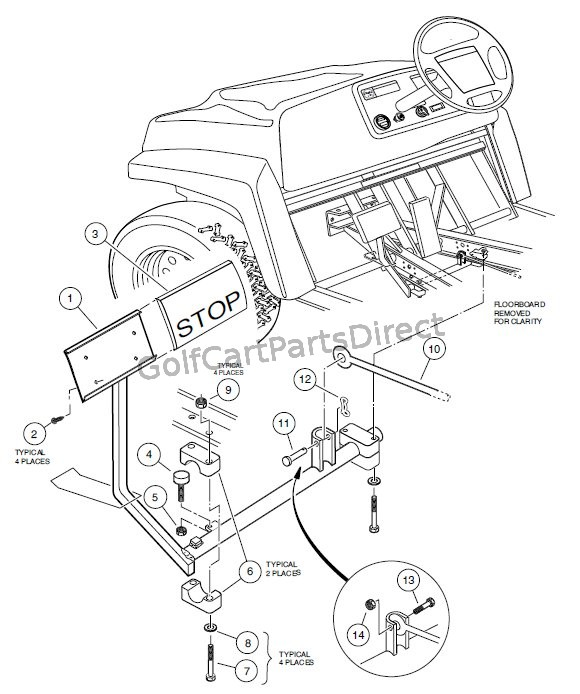 ezgo golf cart brake diagram