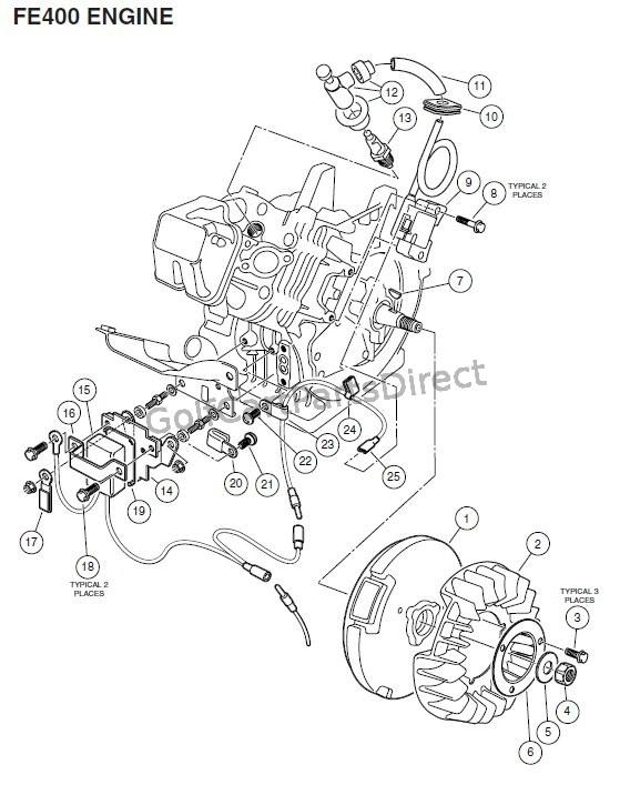 gas golf cart club car rpm limiter wiring diagram