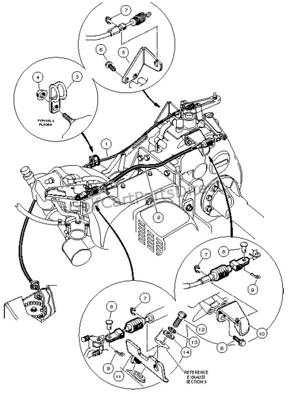 club car accelerator diagram