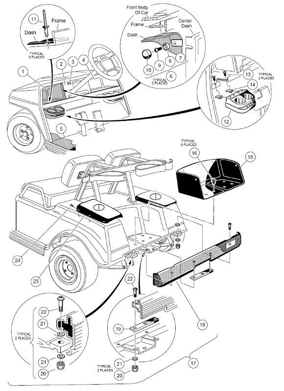 club car body diagram