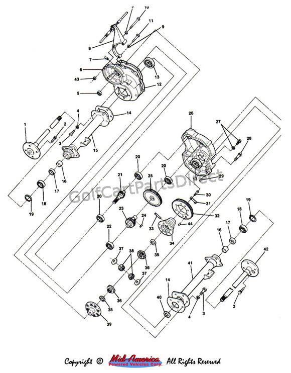 diagram 1991 club car gas parts