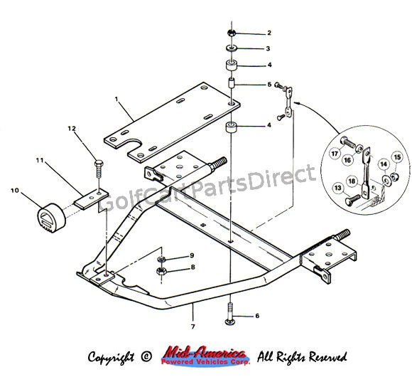 golf cart wheel diagram