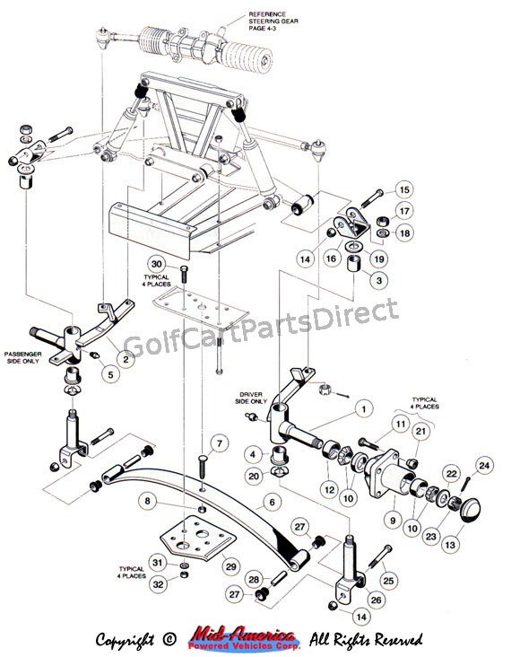 golf cart wiring diagram further ez go golf cart wiring diagram