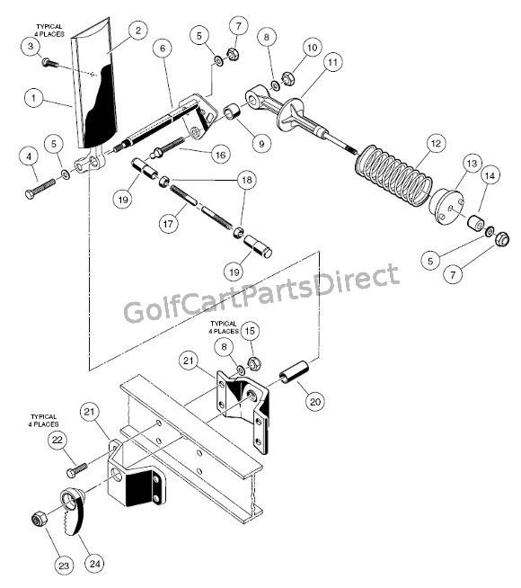 vintage golf cart 36 volt ezgo wiring diagram