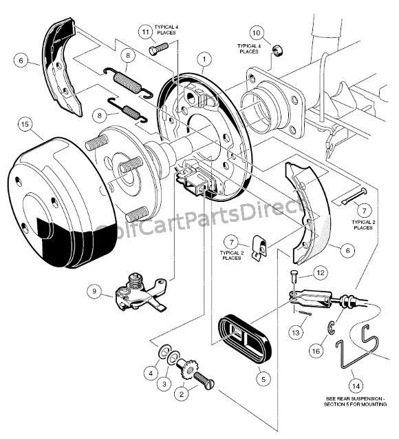 golf cart brakes diagram