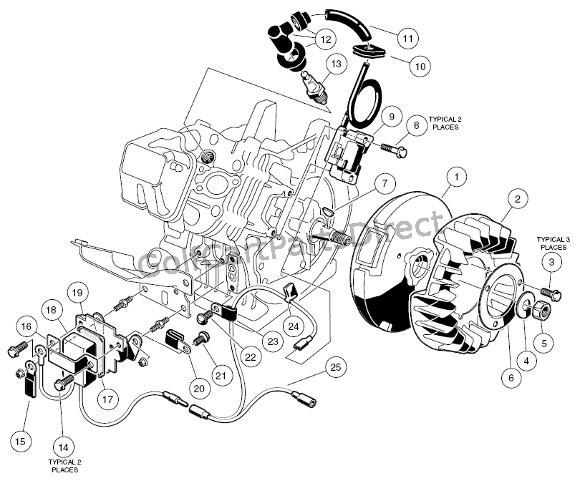 club car engine parts diagram