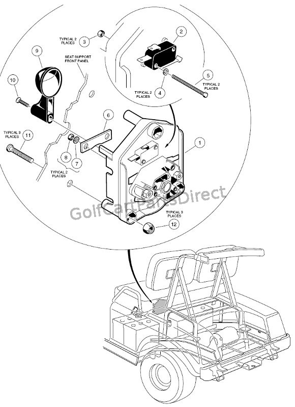 golf cart ignition diagram