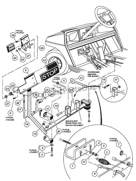 club car precedent brake light wiring diagram