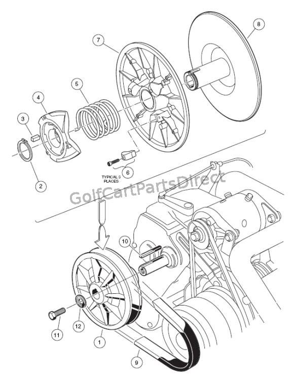 yamaha g1 golf cart clutch diagram