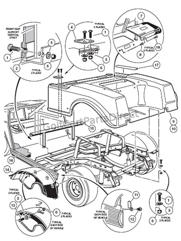 2005 club car fuel filter
