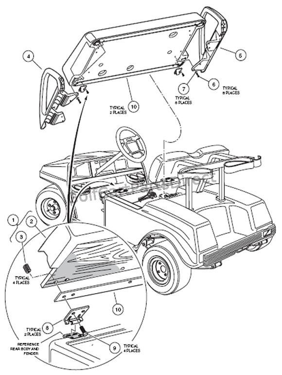 golf cart wiring diagram club car wiring diagram electric 75 81 36v
