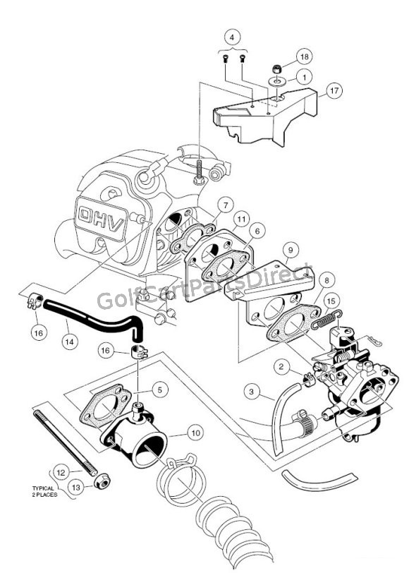 Small Engine Carburetor Diagram Of Club Car Golf Carts Wiring Diagram