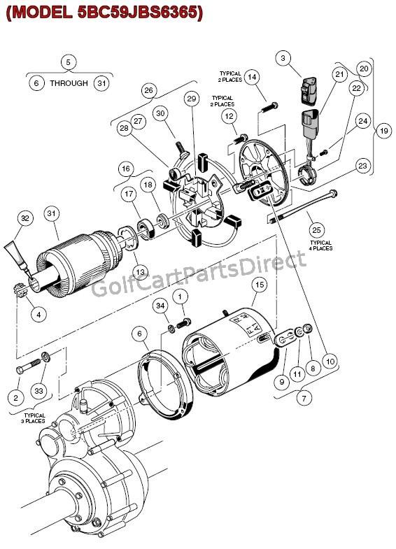 golf cart motor wiring diagram
