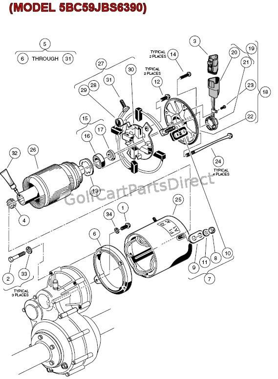 club car electric motor diagram