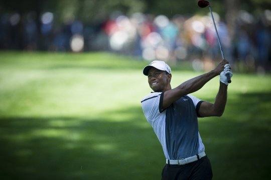 tiger woods 2nd round score at the us open