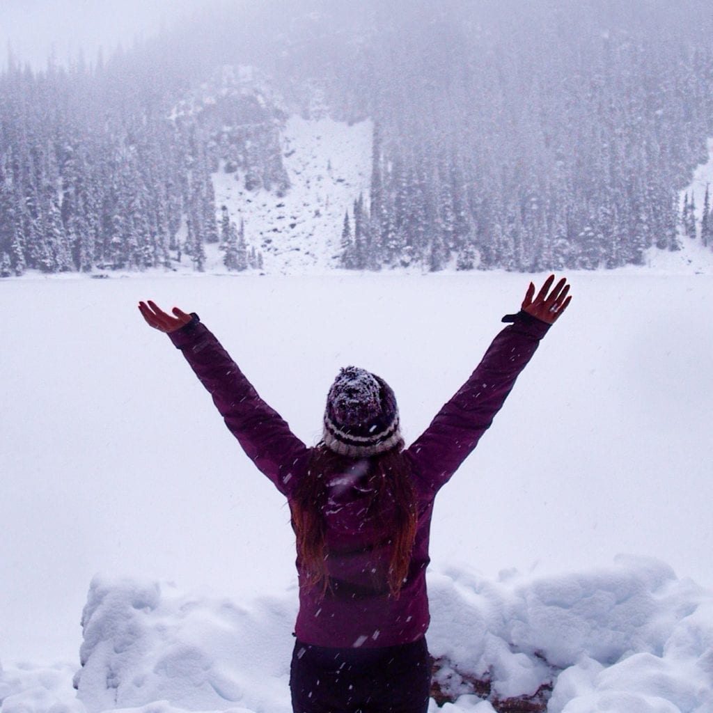 Winter Hiking At Joffre Lakes