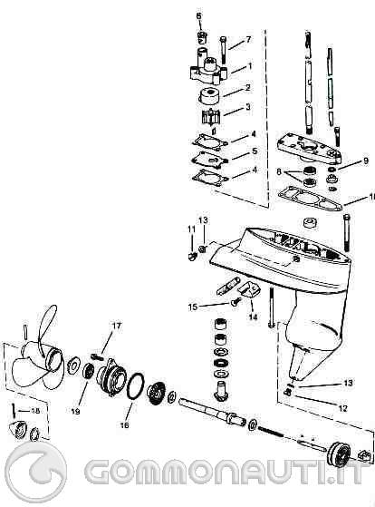 mercury lower unit del Schaltplan
