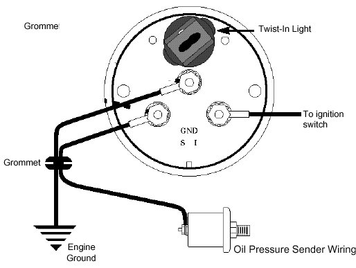 engine oil pressure gauge wiring diagram on blox oil pressure gauge