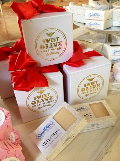 Sweet Olive Soap Works line is available at Nola Potter (photo source: Nola Potter Facebook)
