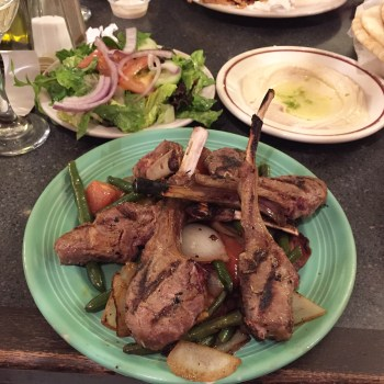 Rosemary Lamb Chops at Lebanon's Cafe