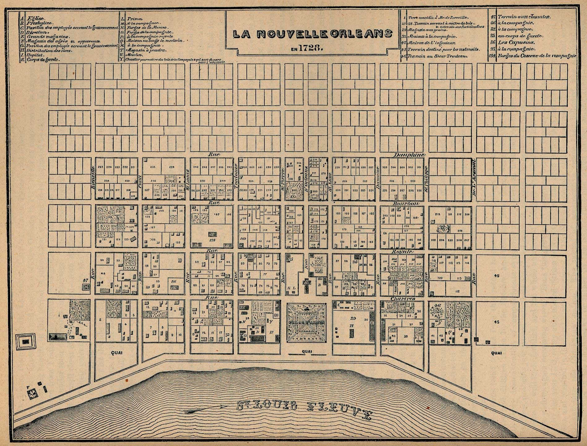 NOLA History  Fascinating Old New Orleans Maps GoNOLAcom - Map new orleans wards