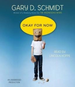 Okay For Now, Gary D Schmidt, Audiobook cover, Doug Swieteck